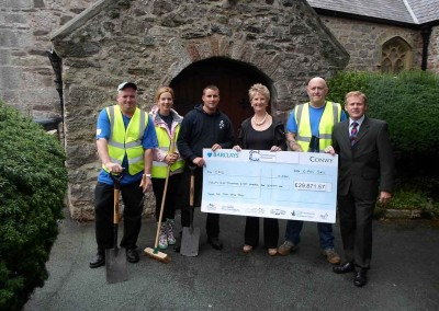 Conwy presents team with cheque